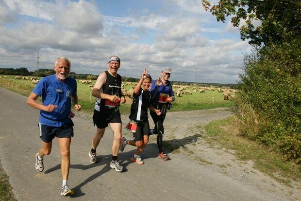"""""""5 am Tag"""" Familien-Marathon Welver Strecke"""