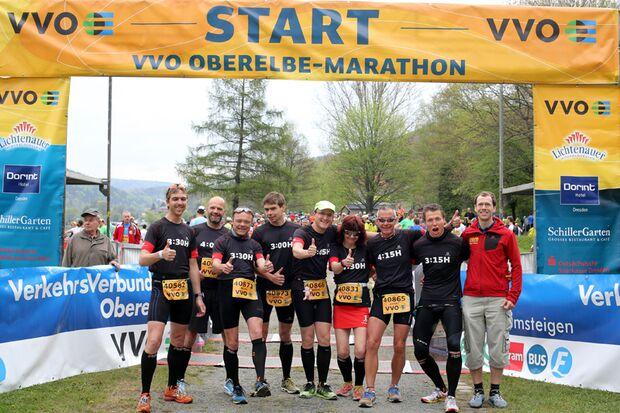 18. Oberelbe-Marathon 2015 Start