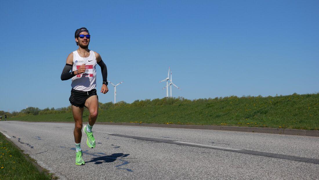 Abgesagter Marathon? Kein Problem! Benjamin Franke lief am Tag des Hamburg-Marathon 42,195 Kilometer alleine.