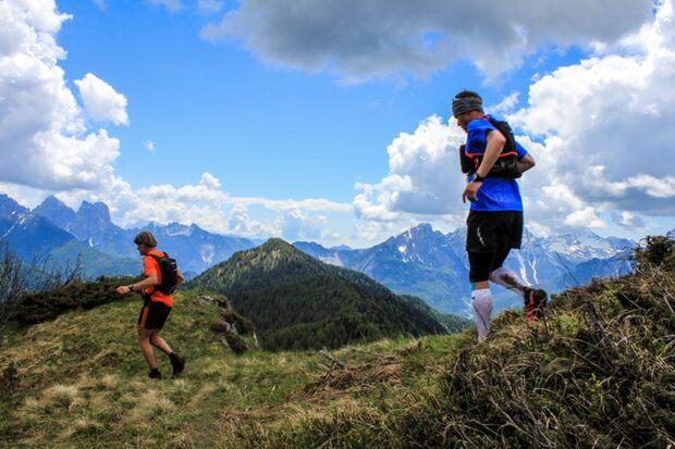 Abwechslungsreiche Berglandschaften beim Dolomiti Extreme Trail