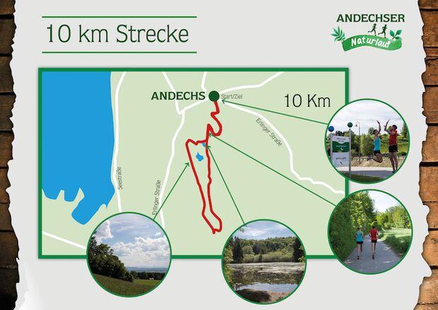 Andechser Naturlauf 2017 Streckenbeschreibung 10 km