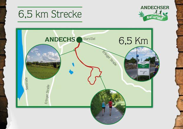 Andechser Naturlauf 2017 Streckenbeschreibung 6,5 km