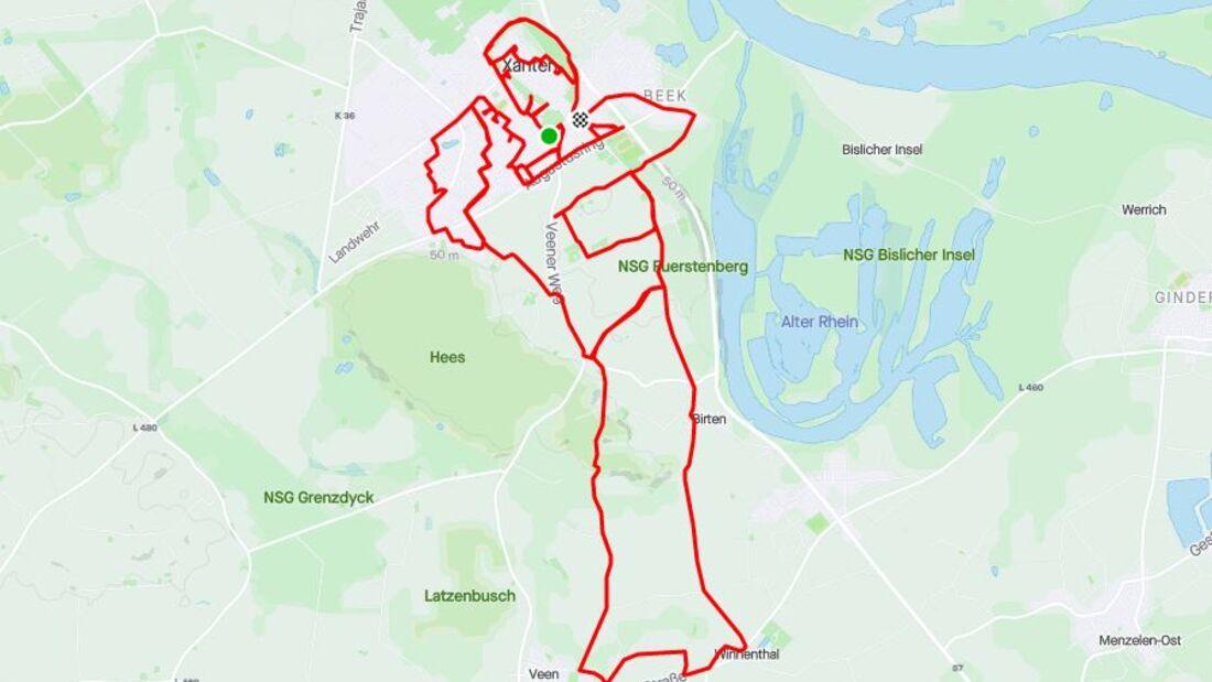 Anna-Lina Dahlbeck zeichnet beim Laufen Bilder.