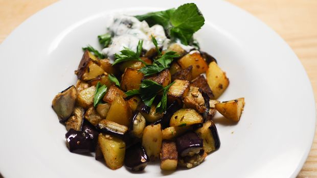 Auberginenkartoffeln