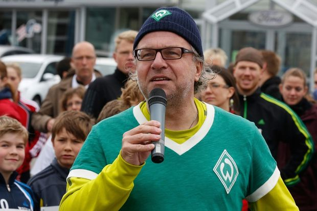 Auch Stolli (Stadionsprecher Werder Bremen) engagiert sich für den Achimer Inklusionslauf