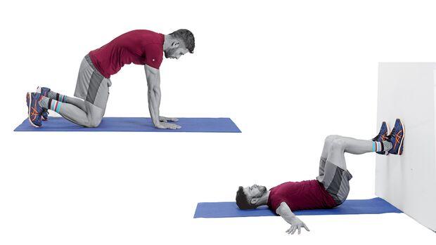 Bauchheben und Hüftheben