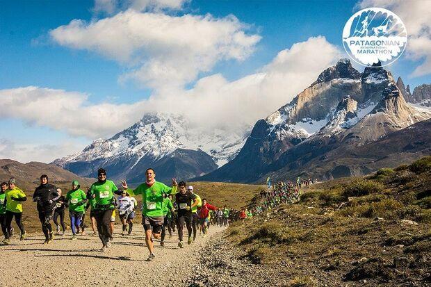 Beeindruckende Landschaft beim Patagonian International Marathon. 2