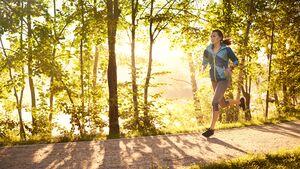 Bei Sonnenschein ist die Motivation zum Laufen größer.