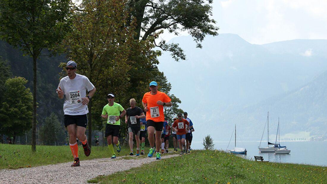 Beim Achenseelauf 2014 in Österreich boten sich den Teilnehmern wunderschöne Panoramen