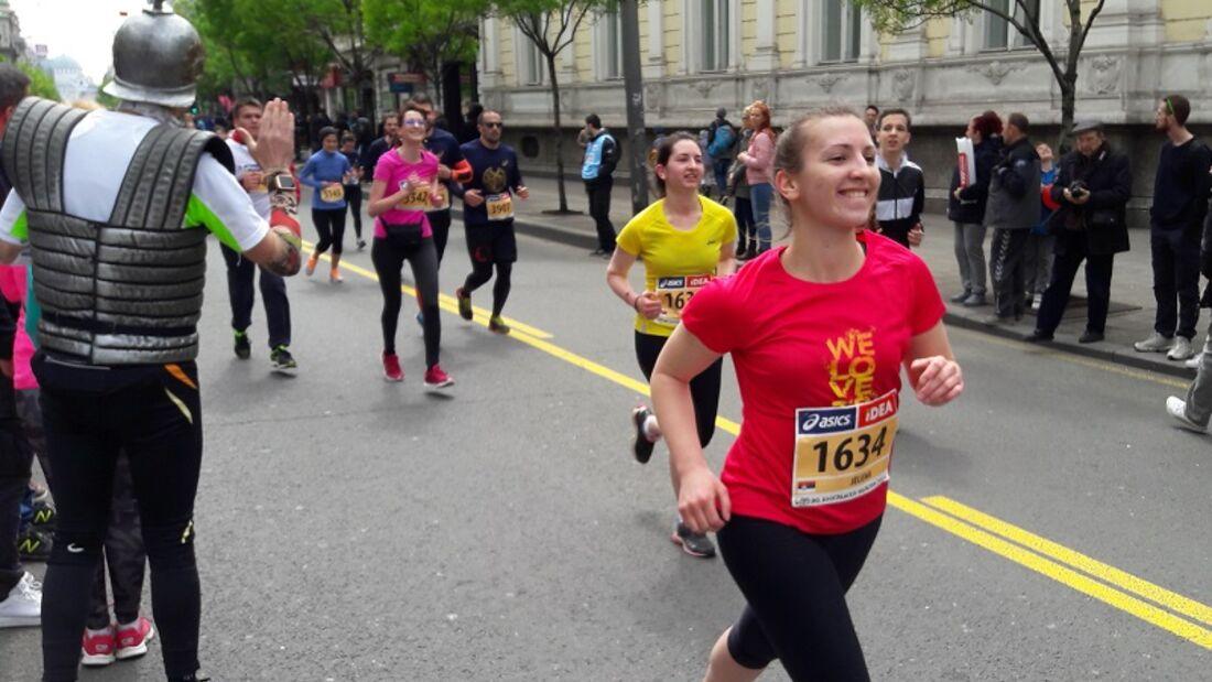 Belgrad-Marathon: Kurz vor dem Ziel