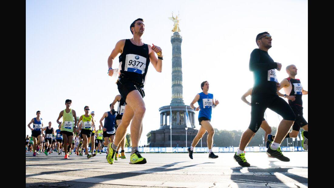 Berlin-Marathon vor der Berliner Siegessäule