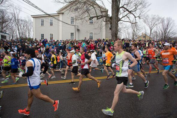 Boston Marathon Zuschauer 2015