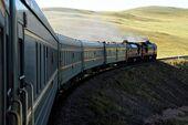 Cropped Train On Landscape