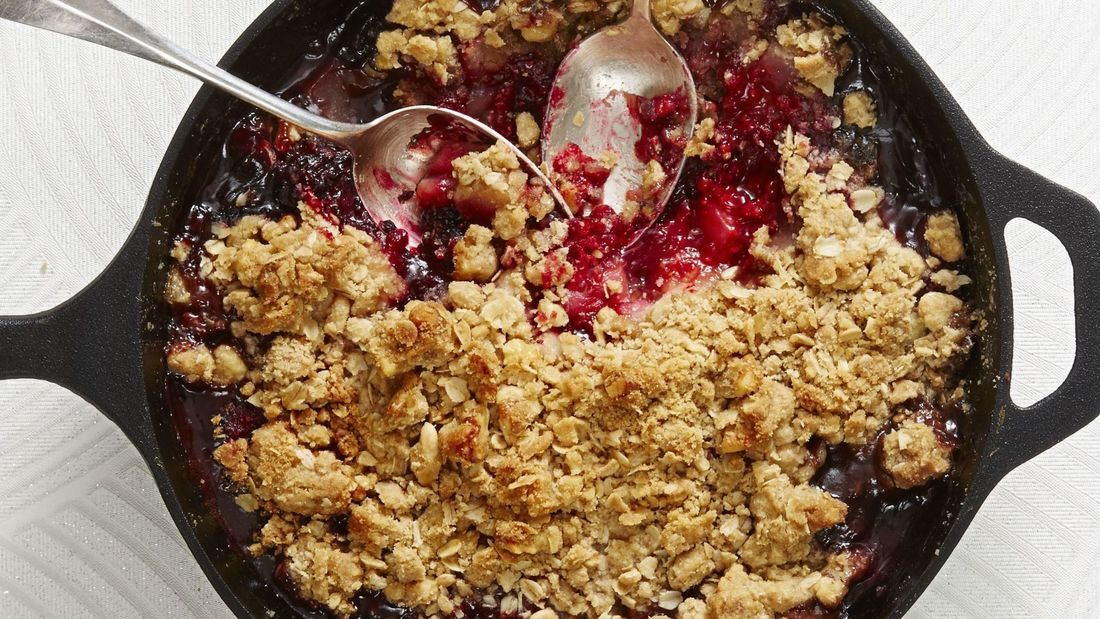 Crumble in der Pfanne