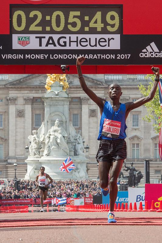 Daniel Wanjiru gewann den London-Marathon 2017 in 2:05:48 Stunden.