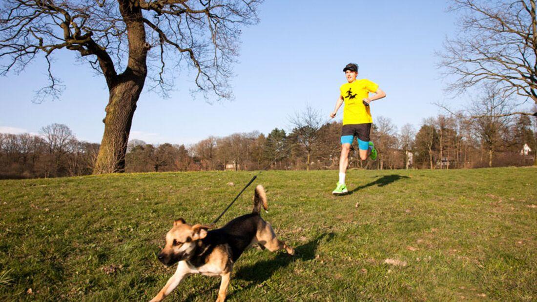 Daniel mit Hund
