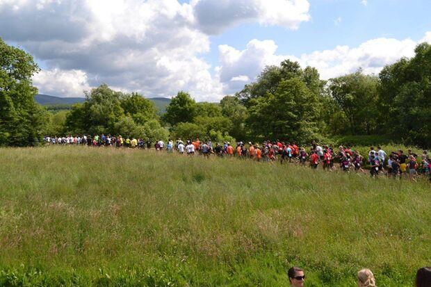 Das Starterfeld beim Harzer Keiler Run
