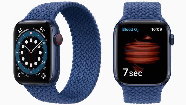 Das wichtigste neue Feature: Die Apple Watch 6 kann den Sauerstoffgehalt im Blut messen