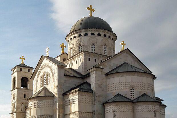 Die Auferstehungskathedrale ist eines der Wahrzeichen Podgoricas.