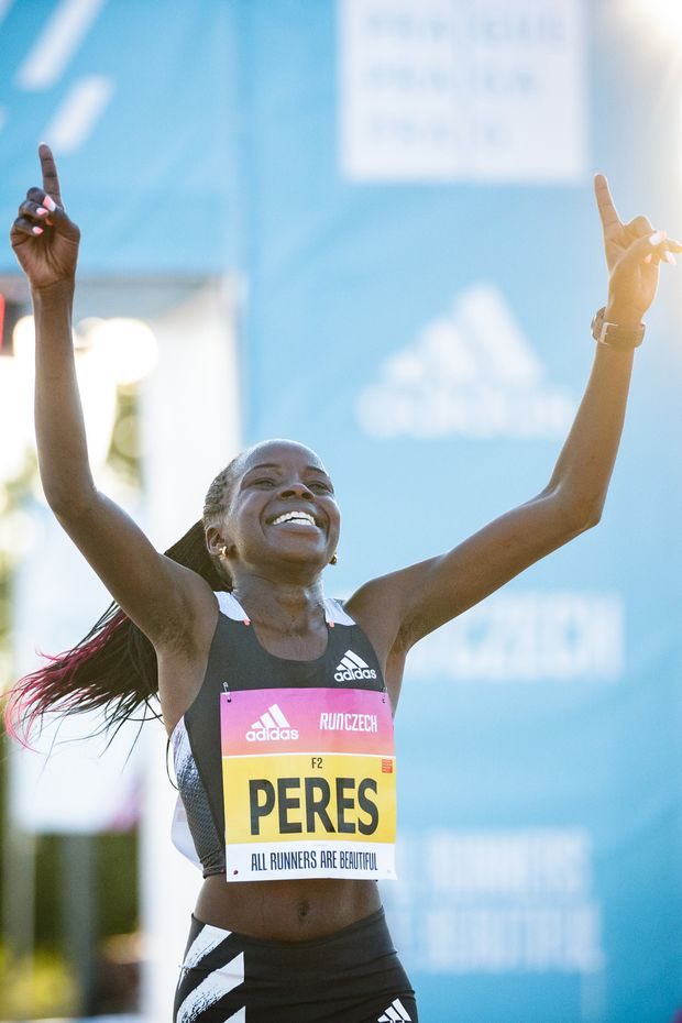 """Die Kenianerin Peres Jepchirchir stellte in Prag mit 65:34 Minuten einen """"Women Only World Record"""" im Halbmarathon auf, also einen Weltrekord in einem reinen Frauenrennen."""