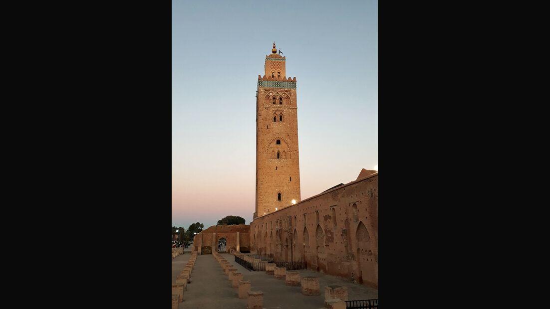 Die Koutoubia-Moschee ist das Wahrzeichen von Marrakesch.