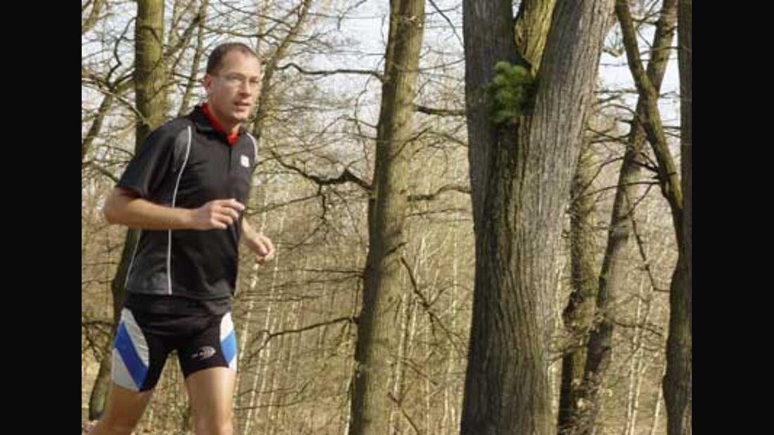Die Laufstrecke in Bischofswerda führt durch den Wald.