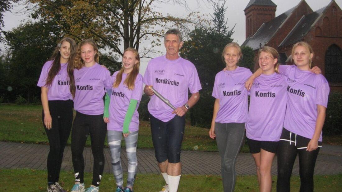 Die Marathon-Staffel des Kirchenlauftreffs Klein Wesenberg