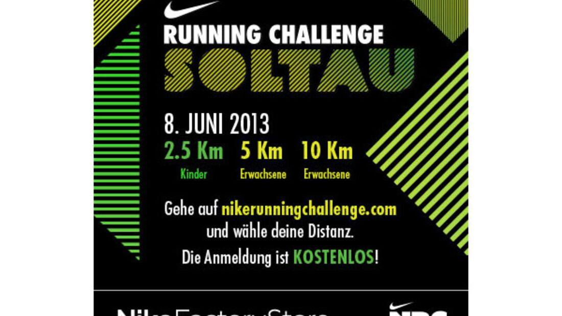 Die Nike Running Challenge am 8. Juni 2013 im Designer Outlet Soltau