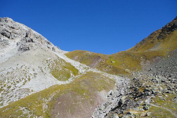 Die Strecke des Arosa Trailrun führt teilweise durch hochalpines Gelände.