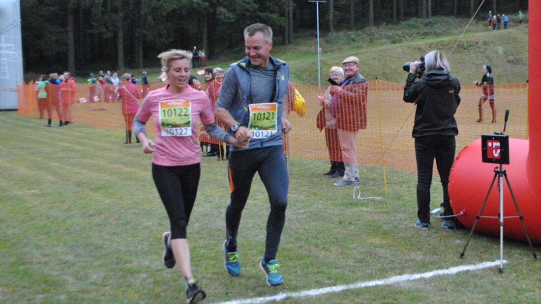 Doreen und Sven Fischer Rennsteig-Herbstlauf 2015