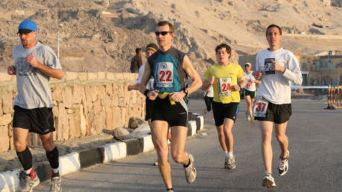 Egyptian-Marathon Luxor Strecke