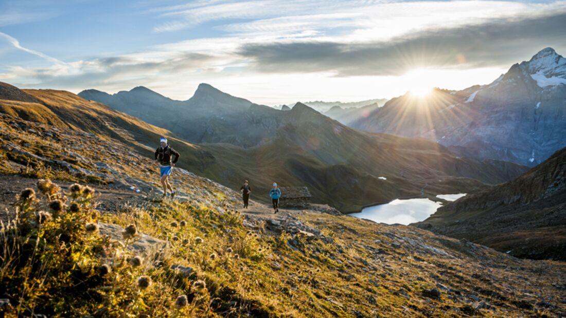 Eiger Ultra Trail Grindelwald Morgendämmerung