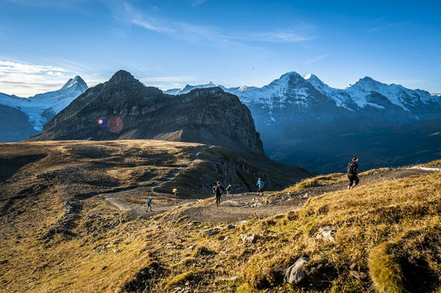 Eiger Ultra Trail Grindelwald Schlussanstieg Faulhorn
