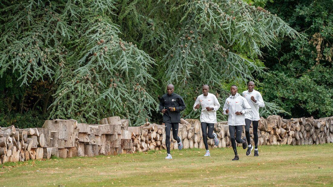 Eliud Kipchoge im Training vor dem London-Marathon 2020