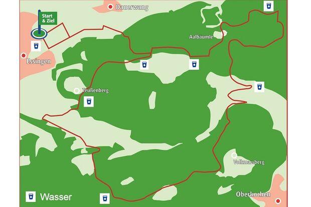 Essinger Panoramaläufe 23 km Vitus König Drei Berge Lauf