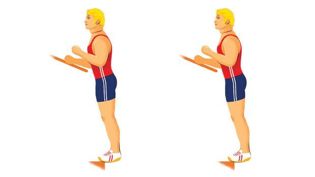 Exzentrisches Training: Aktive Wadendehnung