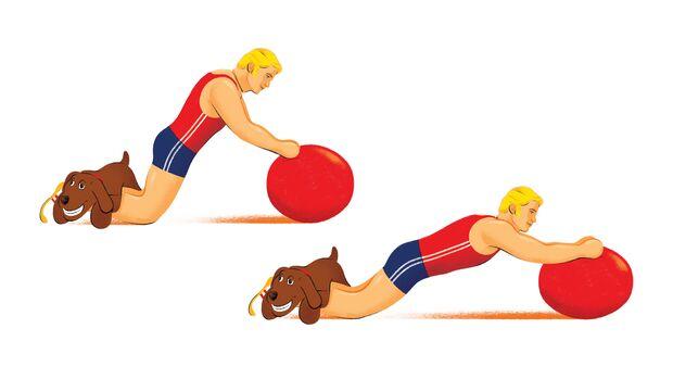 Exzentrisches Training: Aktives Strecken der Oberschenkelrückseiten