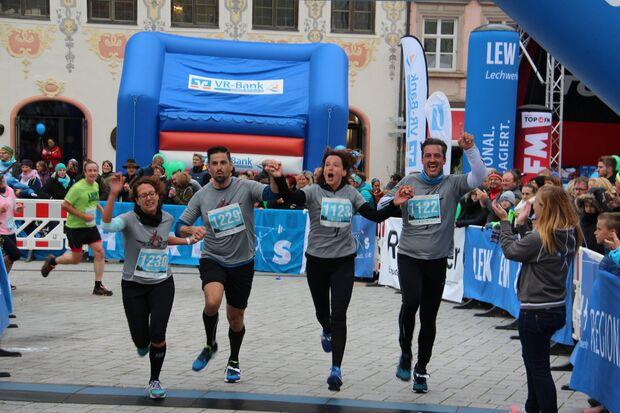 Gemeinsam im Ziel Landsberger Stadtlauf