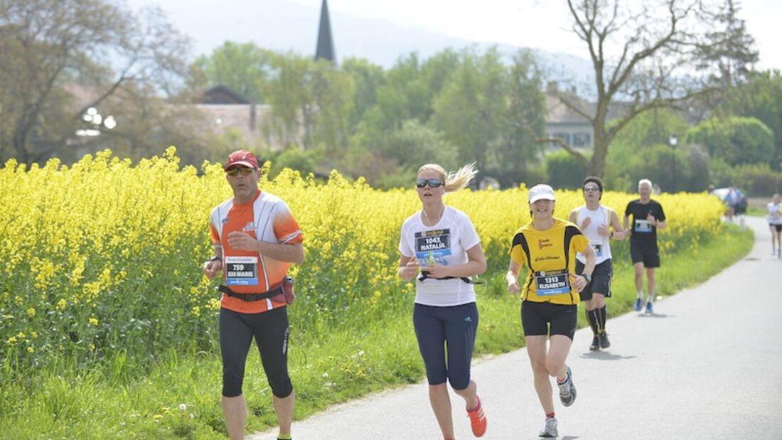 Genf-Marathon Landschaft 2013