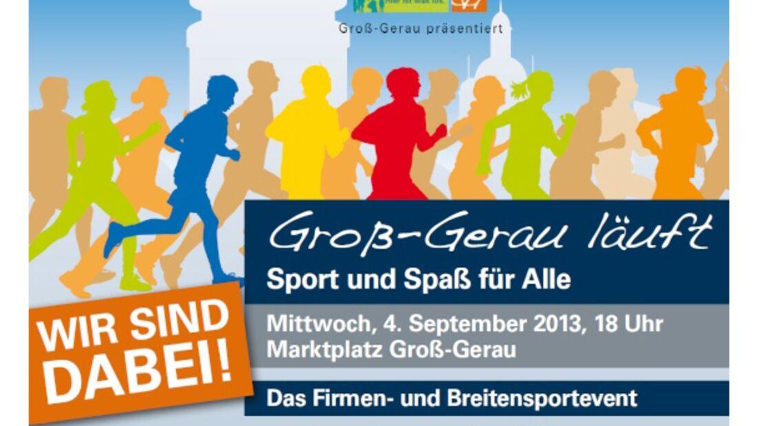 Groß-Gerau läuft  Firmenlauf 2013