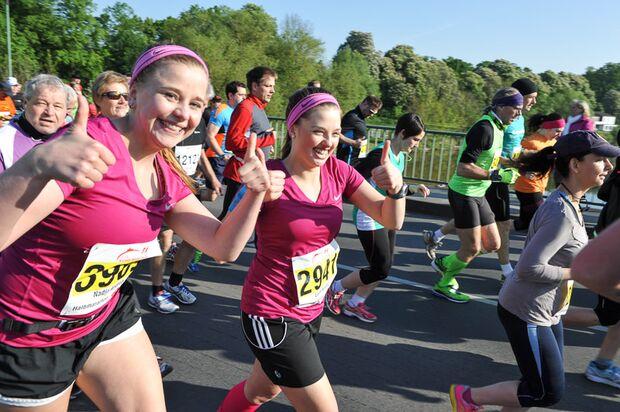 Gute Laune beim Kassel-Marathon 2014
