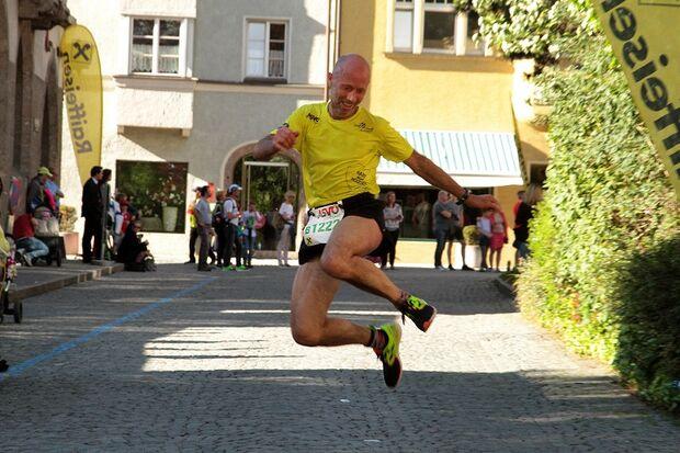 Halbmarathon Hall-Wattens: Freude im Ziel
