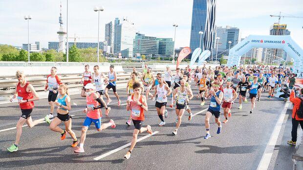 Halbmarathon-Testevent des Vienna City Marathon