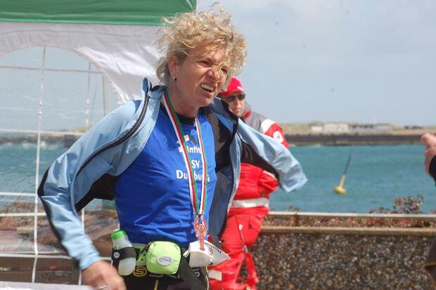 Helgoland-Marathon Siegerin 2012 Antje Möller