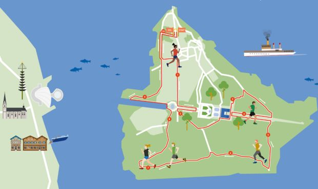 Herrenchiemsee-Lauf Strecke 2019