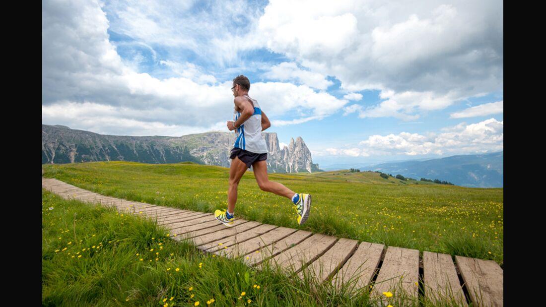 Herrliche Landschaften beim Seiser-Alm-Halbmarathon