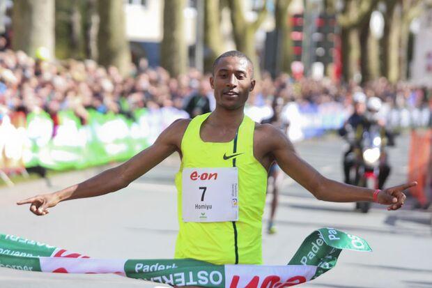 Homiyu Tesfaye beim Paderborner Osterlauf