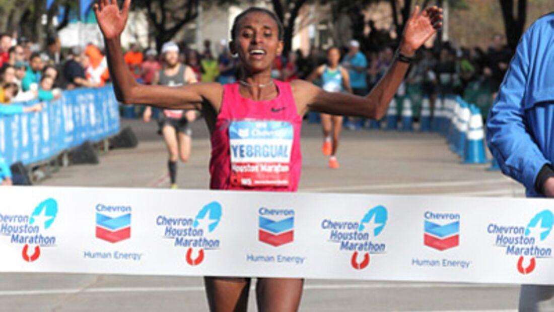 Houston-Marathon Siegerin Arage