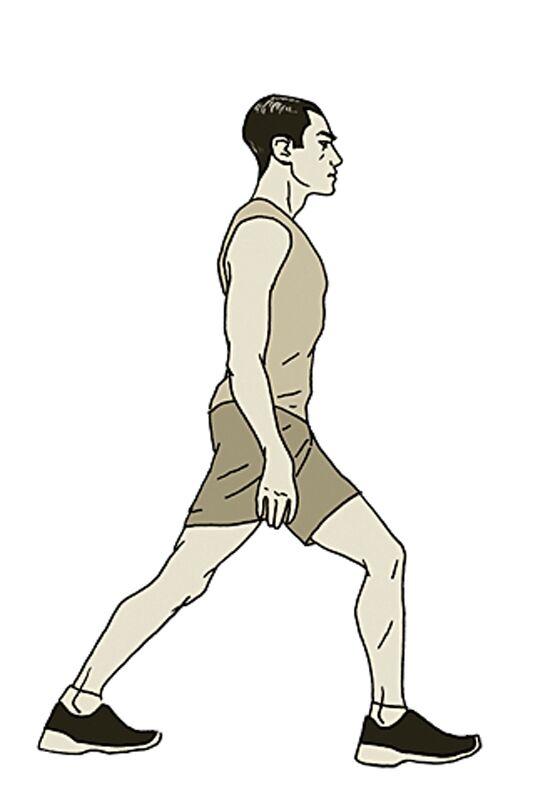 Im Notfall kann diese Übung bei einem Waden-Krampf helfen