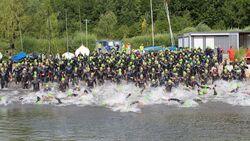 Indeland-Triathlon 2017 Schwimmstart